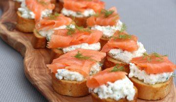 """Somon Füme ve Ricotta Peynirli Kanepe """"Healthy Bakery"""""""