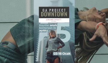 GA Project Downtown 5, 3 Ocak 2019 Grand Hyatt İstanbul'da başlıyor